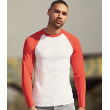 Raglan CONTRAST BASEBALL 100% COTTON LONG SLEEVE T SHIRTS
